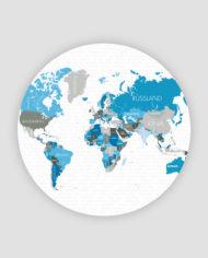 Heimskort – world map design cirular