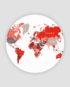 Heimskort - world map design cirular