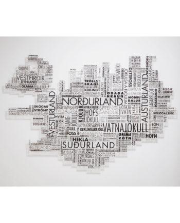 Ísland orðum skorið - plexigler