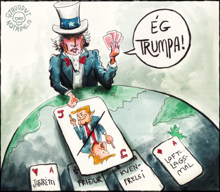 Donald Trump Sámur frændi spil Stundin