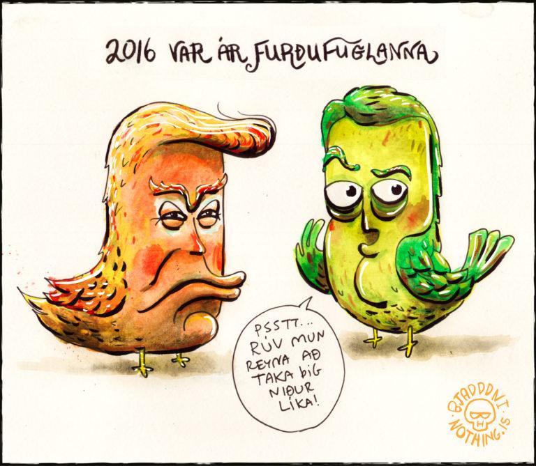 Furðufuglar Donald Trump og Sigmundur Davíð